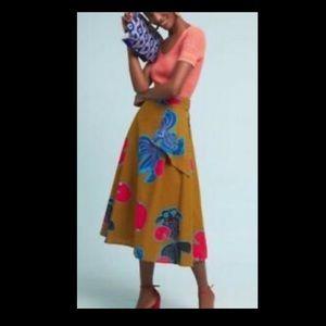 Eva Franco fish print skirt from Anthropologie